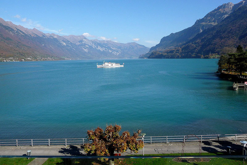 Hotel Seiler au Lac, view over Lake Brienz