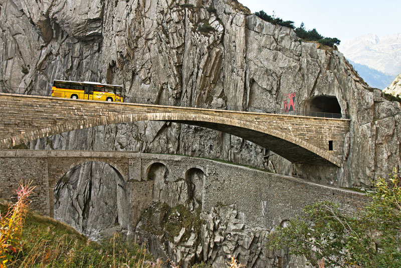 Devil's Bridge near Andermatt