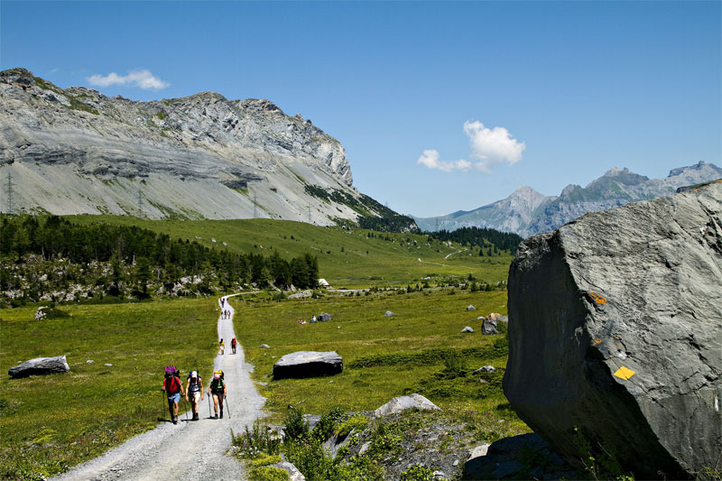 Walking near Kandersteg