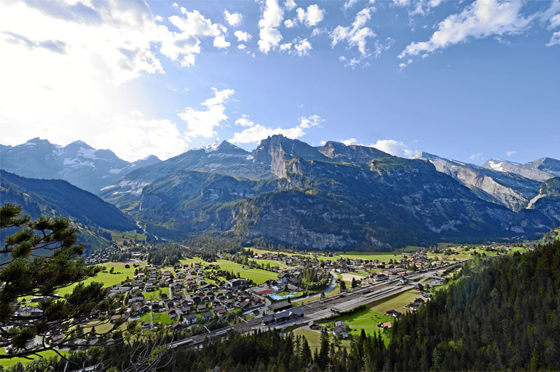 Aerial view of Kandersteg