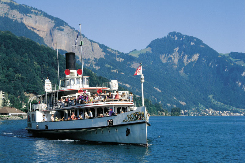 Steamer on Lake Lucerne