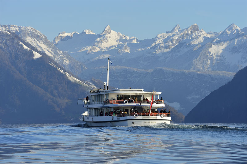 Winter cruise, Lake Lucerne