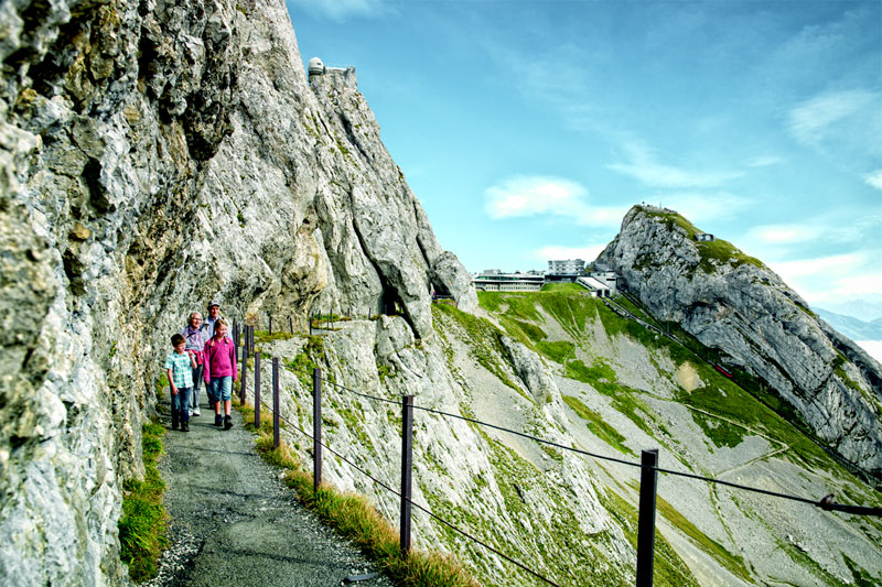 Walking on Mount Pilatus