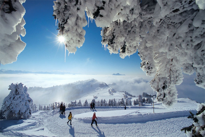 Mount Rigi in winter