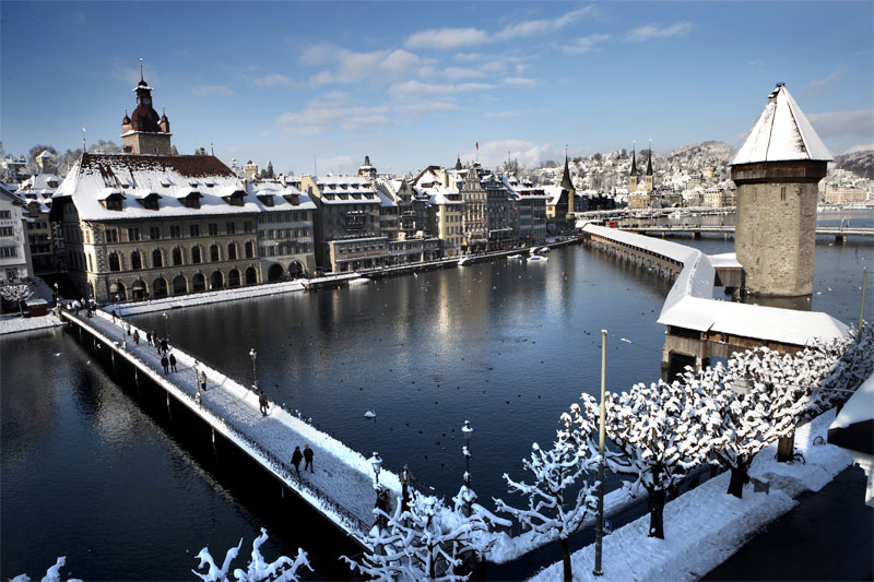 Winter view of Lucerne