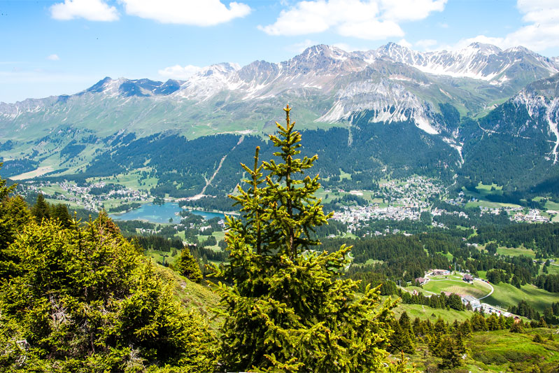 View over Lenzerheide