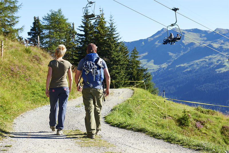 Walking near Lenzerheide