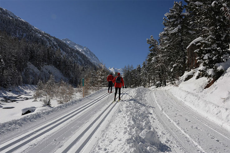 Pontresina winter walking