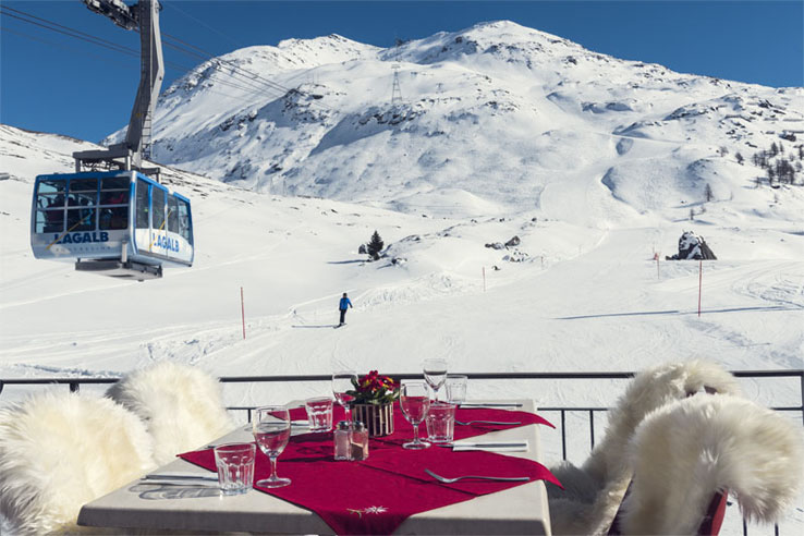 Engadin ski region mountain restaurant