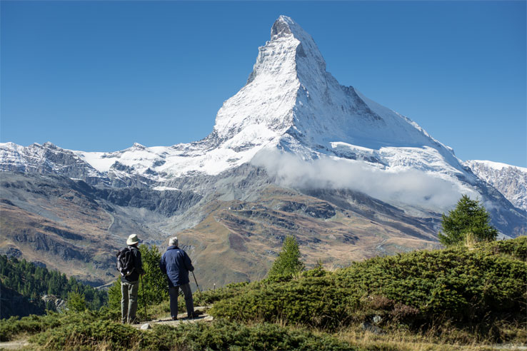 Walking with Matterhorn views