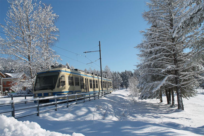 Winter journey on the Centovalli Line