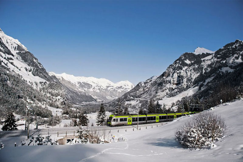 A winter view of the Lötschberg Regio Express