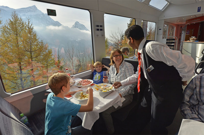 On board the Luzern-Interlaken Express