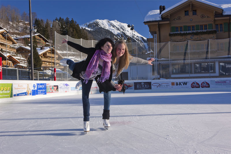 Skating in Gstaad