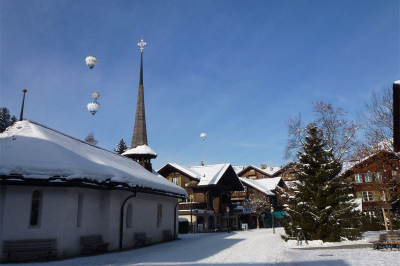 A winter's view of Gstaad
