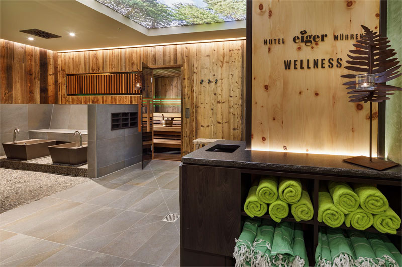 Wellness area at the Hotel Eiger