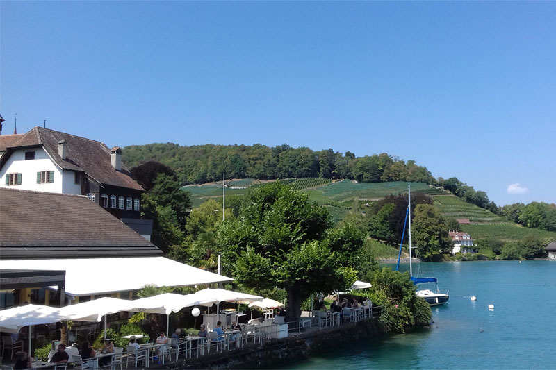 Lakeside restaurant in Spiez