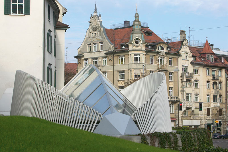 Modern and traditional architecture in St. Gallen