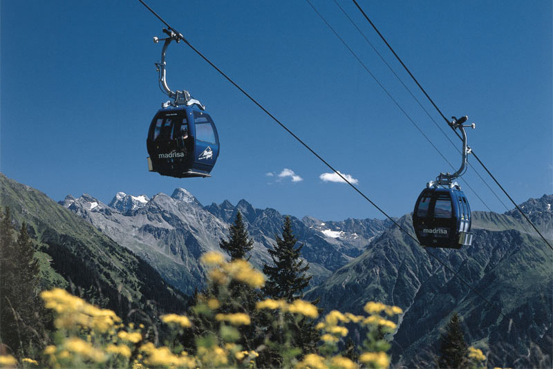 Madrisa cable cars