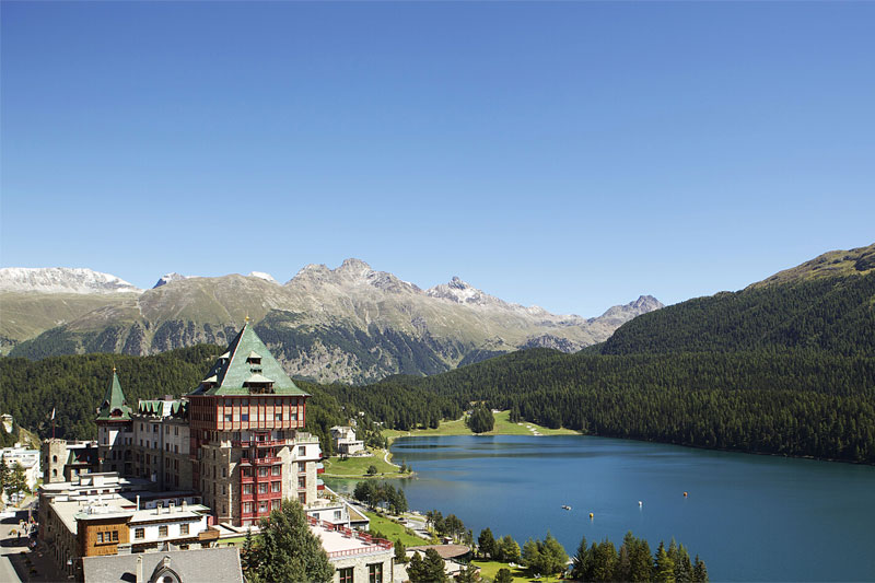 View over St. Moritz