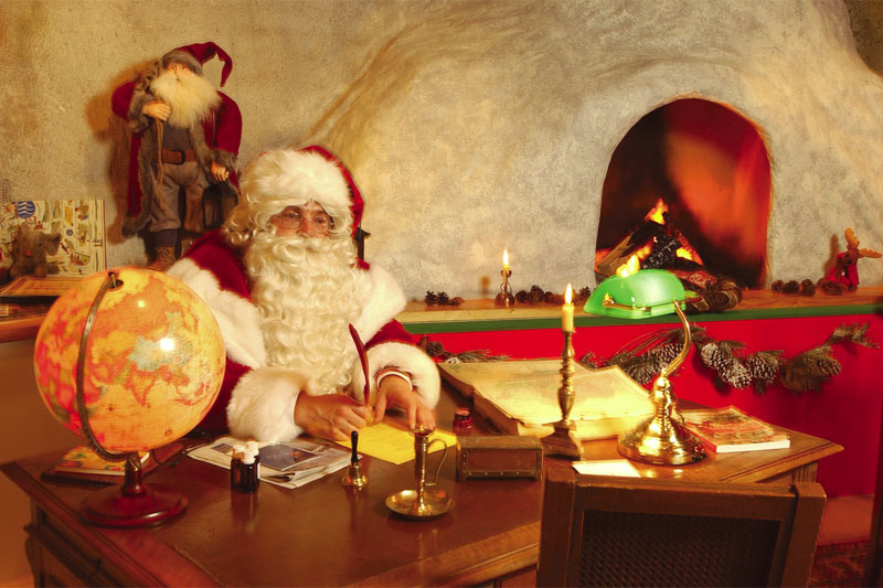 Visit Santa Claus in his Les Rochers-de-Naye grotto