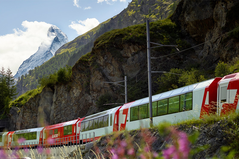 Glacier Express with the Matterhorn