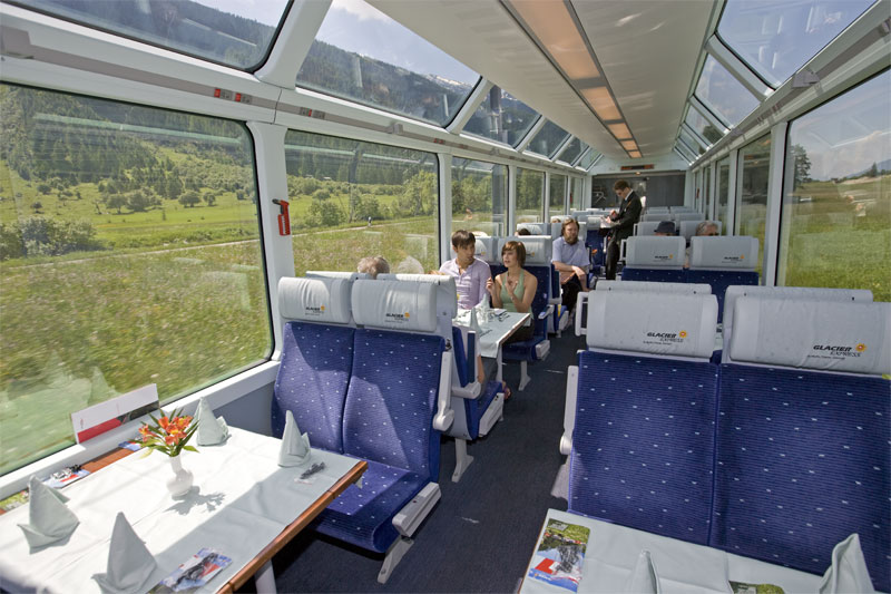 Panoramic carriages of the Glacier Express