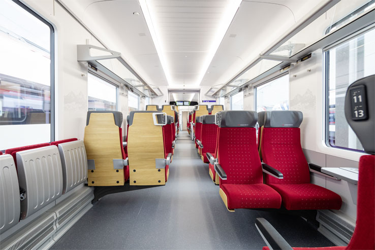 2nd class on the Treno Gottardo