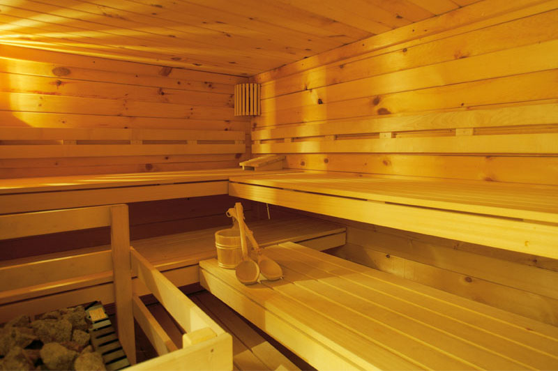 The hotel also has a sauna