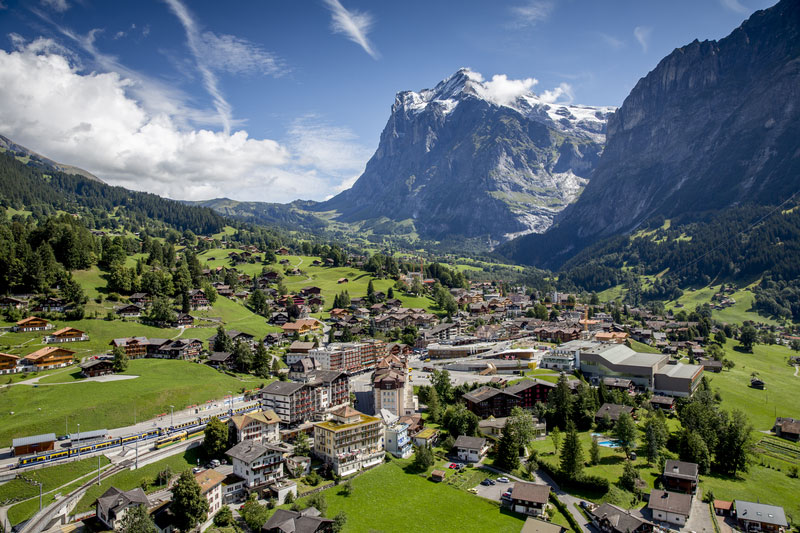 Aerial view of Grindelwald