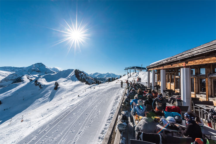 Gstaad mountain restaurant