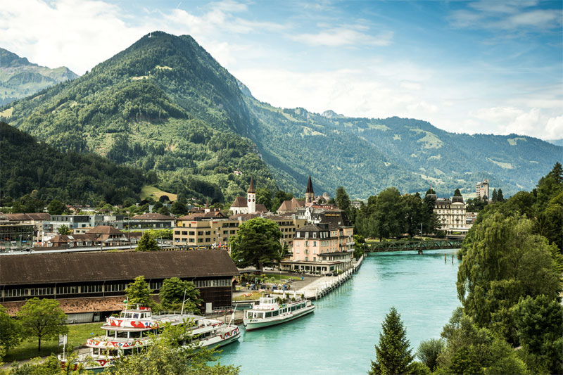 Aare river, Interlaken