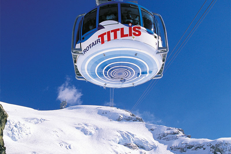 Amazing views from the Mount Titlis cable car