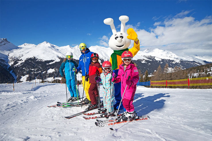 Davos Klosters family skiing
