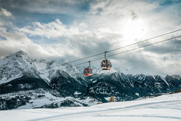 Scuol cable cars