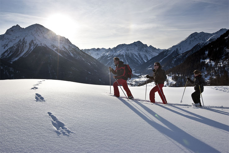 Scuol winter walking