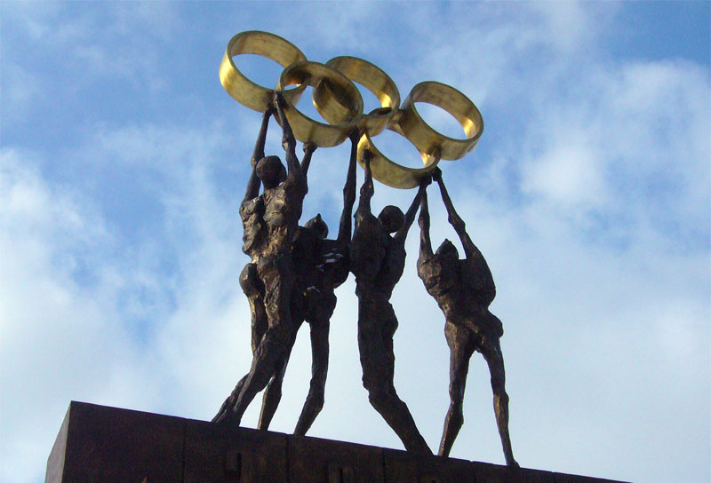 Lausanne Olympic statue