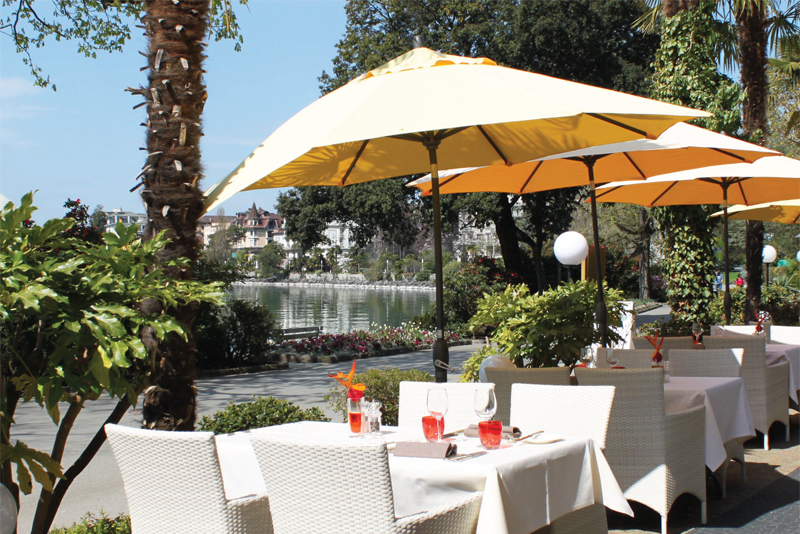Hotel Royal Plaza Montreux, terrace
