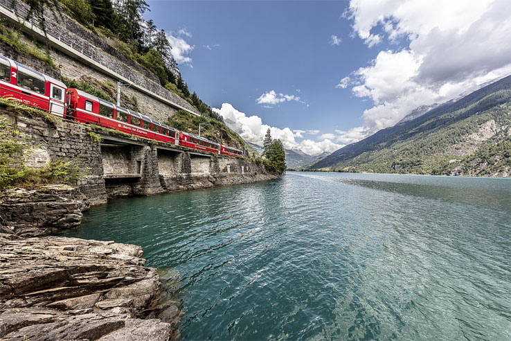 Bernina Express at Poschiavo