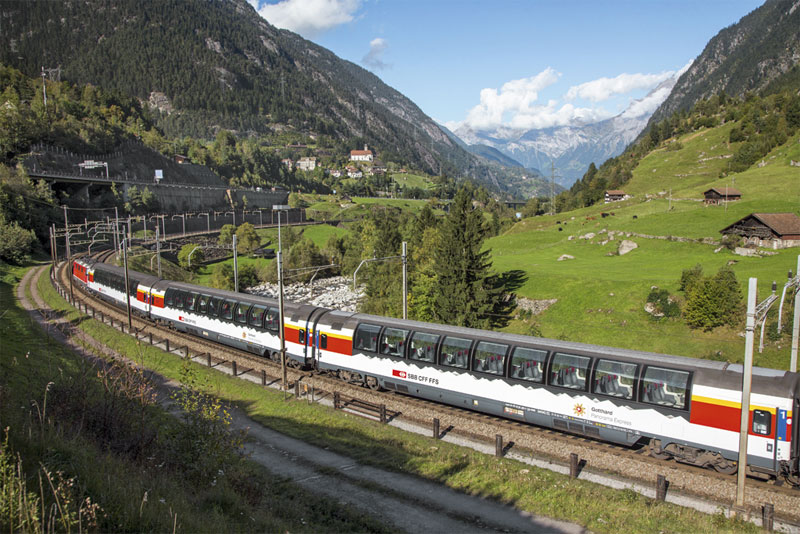 Wattinger Curve on the Gotthard Panorama Express