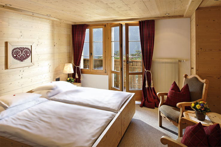 Hotel Alpenrose, example of a bedroom