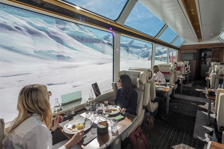 Excellence Class on the Glacier Express