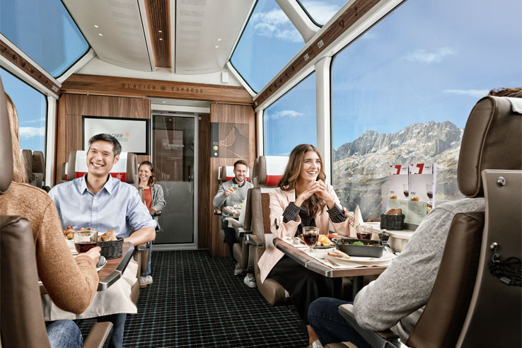 First Class on the Glacier Express